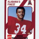 1989 Alabama Coke 580 Football #056 Mike Washington - Alabama Crimson Tide