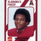 1989 Alabama Coke 580 Football #052 Woodrow Lowe - Alabama Crimson Tide