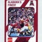 1989 Alabama Coke 580 Football #050 John Mitchell - Alabama Crimson Tide