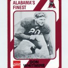 1989 Alabama Coke 580 Football #022 Don Whitmire - Alabama Crimson Tide