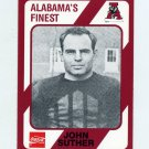 1989 Alabama Coke 580 Football #008 John Suther - Alabama Crimson Tide