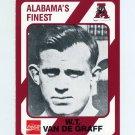 1989 Alabama Coke 580 Football #002 W.T. Van De Graff - Alabama Crimson Tide