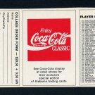 1989 Alabama Coke 580 Football #NNO Checklist #2