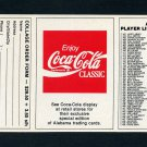 1989 Alabama Coke 580 Football #NNO Checklist #5