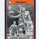 1990-91 Clemson Collegiate Collection #199 Donnie Mahaffey - Clemson Tigers