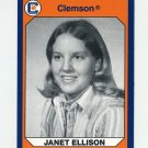 1990-91 Clemson Collegiate Collection #198 Janet Ellison - Clemson Tigers