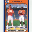 1990-91 Clemson Collegiate Collection #144 John Phillips / Michael Dean Perry - Clemson Tigers