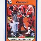 1990-91 Clemson Collegiate Collection #142 Safety Celebration - Clemson Tigers