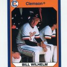 1990-91 Clemson Collegiate Collection #106 Bill Wilhelm - Clemson Tigers