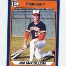 1990-91 Clemson Collegiate Collection #103 Jim McCollom - Clemson Tigers
