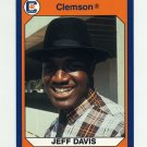 1990-91 Clemson Collegiate Collection #096 Jeff Davis - Clemson Tigers