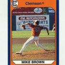 1990-91 Clemson Collegiate Collection #086 Mike Brown - Clemson Tigers