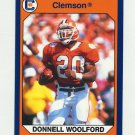 1990-91 Clemson Collegiate Collection #084 Donnell Woolford - Clemson Tigers