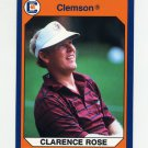 1990-91 Clemson Collegiate Collection #082 Clarence Rose - Clemson Tigers