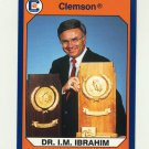 1990-91 Clemson Collegiate Collection #069 Dr. I.M. Ibrahim - Clemson Tigers