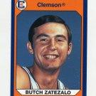 1990-91 Clemson Collegiate Collection #068 Butch Zatezalo - Clemson Tigers