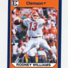 1990-91 Clemson Collegiate Collection #067 Rodney Williams - Clemson Tigers