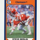 1990-91 Clemson Collegiate Collection #054 Steve Berlin - Clemson Tigers