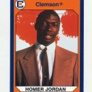 1990-91 Clemson Collegiate Collection #044 Homer Jordan - Clemson Tigers
