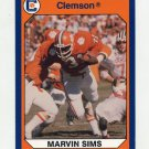 1990-91 Clemson Collegiate Collection #028 Marvin Sims - Clemson Tigers