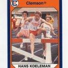 1990-91 Clemson Collegiate Collection #026 Hans Koeleman - Clemson Tigers