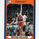 1990-91 Clemson Collegiate Collection #003 Wayne (Tree) Rollins - Clemson Tigers