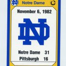 1990 Notre Dame 200 Football #196 1982 Pittsburgh