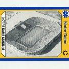 1990 Notre Dame 200 Football #192 Notre Dame Stadium - University of Notre Dame
