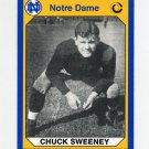 1990 Notre Dame 200 Football #191 Chuck Sweeney - University of Notre Dame