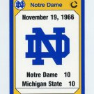 1990 Notre Dame 200 Football #187 1966 Michigan State