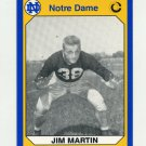 1990 Notre Dame 200 Football #185 Jim Martin - University of Notre Dame