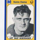 1990 Notre Dame 200 Football #167 Bud Boeringer - University of Notre Dame