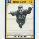 1990 Notre Dame 200 Football #158 Art Hunter - University of Notre Dame