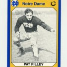1990 Notre Dame 200 Football #155 Pat Filley - University of Notre Dame
