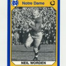 1990 Notre Dame 200 Football #154 Neil Worden - University of Notre Dame