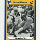 1990 Notre Dame 200 Football #152 Ted Gradel - University of Notre Dame