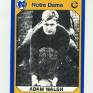 1990 Notre Dame 200 Football #150 Adam Walsh - University of Notre Dame
