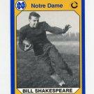 1990 Notre Dame 200 Football #149 Bill Shakespeare - University of Notre Dame