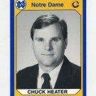 1990 Notre Dame 200 Football #147 Chuck Heater - University of Notre Dame