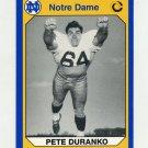 1990 Notre Dame 200 Football #143 Pete Duranko - University of Notre Dame