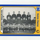 1990 Notre Dame 200 Football #140 1930 National Champs - University of Notre Dame