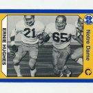 1990 Notre Dame 200 Football #135 Ernie Hughes - University of Notre Dame