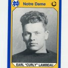1990 Notre Dame 200 Football #134 Curly Lambeau - University of Notre Dame