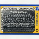 1990 Notre Dame 200 Football #132 1966 National Champs - University of Notre Dame