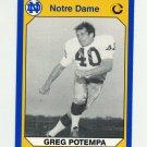 1990 Notre Dame 200 Football #121 Gary (Greg) Potempa - University of Notre Dame