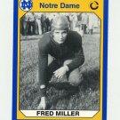 1990 Notre Dame 200 Football #120 Fred Miller - University of Notre Dame