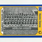 1990 Notre Dame 200 Football #109 1947 National Champs - University of Notre Dame