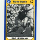 1990 Notre Dame 200 Football #108 Bob Lehmann - University of Notre Dame