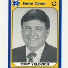 1990 Notre Dame 200 Football #079 Tony Yelovich - University of Notre Dame