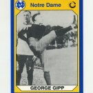 1990 Notre Dame 200 Football #076 George Gipp - University of Notre Dame